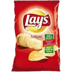 Chips Lay's nature salées 75 g